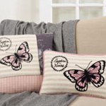 8064 explore the world butterfly pillow