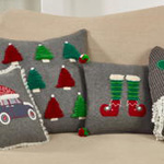 8067 christmas hat car pillow