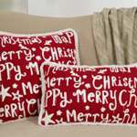 8801 merry happy christmas pillow