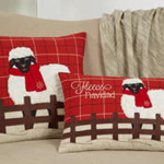 8804 plaid christmas sheep pillow