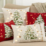 8970 christmas tree pillow with led lights