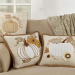 5196 jute embroidered pillow