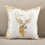 9279 foil reindeer pillow