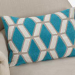 9317 embroidered geo pillow