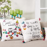 935 tassel embroidered pillow
