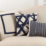 940 frayed cotton embroidered pillow