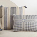 950 crosshatch embroidered pillow