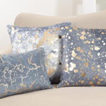 956 foil spattered pillow