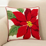 9711 poinsettia pillow
