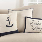 973 embroidered sail away pillow