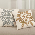 H1683 beaded snowflake pillows