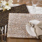 1053 woven water hyacinth placemat