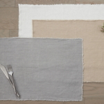 13009 fringed design stone washed placemat