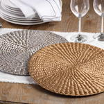 1404 woven water hyacinth placemat