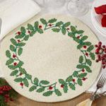 446 beaded holly placemat