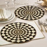 992 beaded design placemats