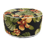 PU1933 Tropical Leaf Outdoor Ottoman