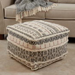 PU197 Printed + Tufted Pouf
