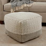 PU308 Two-Tone Pouf