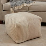 PU624 Two-Tone Pouf