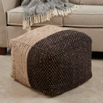 PU714 Two-Tone Pouf