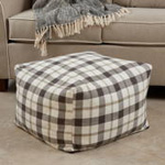 PU8050 Plaid Pouf