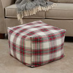 PU8053 Plaid Pouf