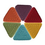 PU860 Triangle Cotton Twisted Rope Pouf