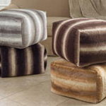 PU050 Animal Print Faux Fur Pouf