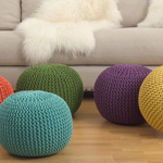PU312 cotton twisted rope poufs