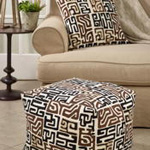 PU665 Kuba Cloth Pouf