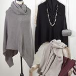 P1616 knitted design poncho