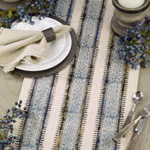 2319 Embroidered Block Print Runner