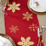 4504 Embroidered Snowflake Runner
