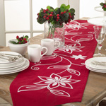 6010 embroidered flower runner