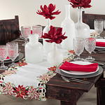 648 poinsettia design runner