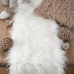 706 faux mongolian fur runner