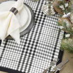 7264 Double Layer Plaid Runner
