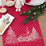 7342 polka dot holiday cottage runner