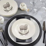 SE890 sheep salad plate