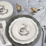 SE893 rabbit salad plate