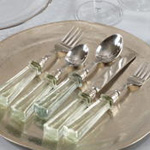 SP132 glass handle flatware