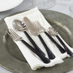 SP140 matte black flatware