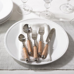 SP360 bark wood flatware