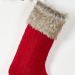 1285 knit + faux fur stocking