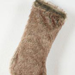 1891 faux fur stocking