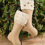 H1784 fringed jute stocking