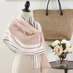 S112 striped linen scarf