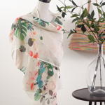 S225 floral scarf