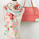 S301 floral scarf